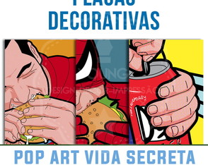 Placas Decorativas Vida Secreta