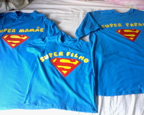 Kit camisetas super man