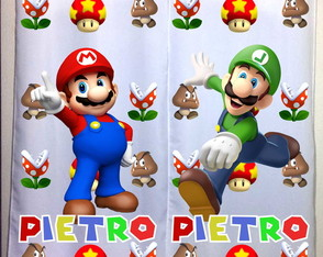 Cortina do Mario Bros Personalizada