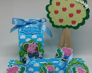 Kit Festa Peppa Pig e George Pig