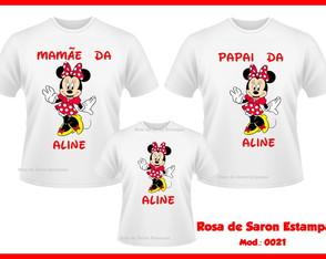 99aed42a77878 Camiseta Personalizada · Kit 3 camisetas Personalizadas Minnie ...