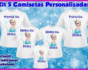 1f5045bb50166 Camiseta Personalizada · Kit 3 camisetas Personalizadas Minnie · Kit 5 camisetas  Personalizadas Frozzen ...