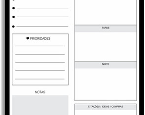 DESK PLANNER DIÁRIO JUST LOVELY BLACK