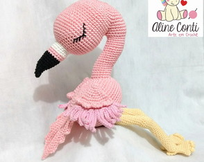 Flamingo crochê