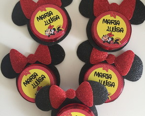 Latinhas decoradas Minnie