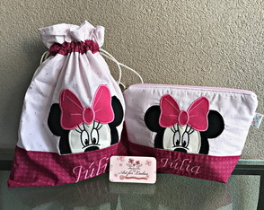 Kit Higiene Impermeável Minnie