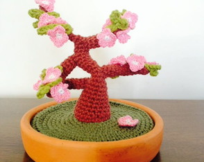 Bonsai em croche -mini arvore
