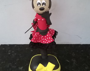 Caneta decorada Minnie vermelha