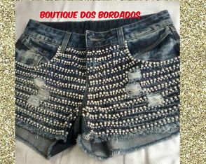 SHORTS BORDADOS