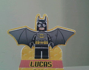 Porta chocolate duplo batman lego