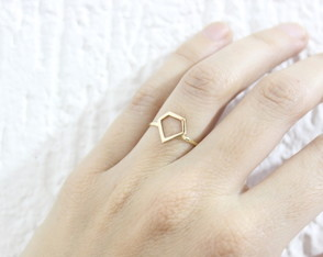 Skinny Ring Diamante Ouro 18k