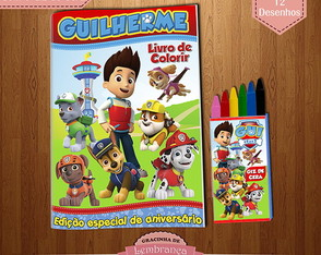 Kit de Colorir - Patrulha Canina