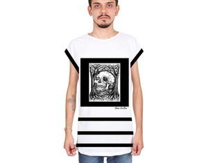 Camiseta Sleeveless Caveira Black White