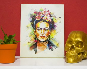 Placa mdf Frida Kahlo