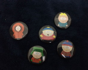 Kit 5 Bottons / Broches S Park