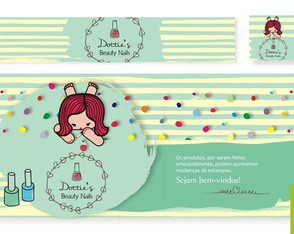 "Kit Loja Elo 7 ""Dottie's Nails"""