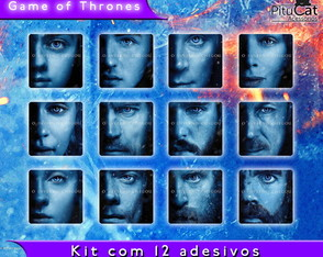 Game of Thrones 12 adesivos temporada 7