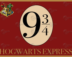Placa Decorativa Harry Potter 9 3/4