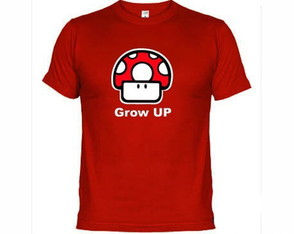 Camisetas Games Mario Bros Grow Up