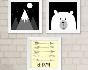 Kit de Quadros - Be Brave