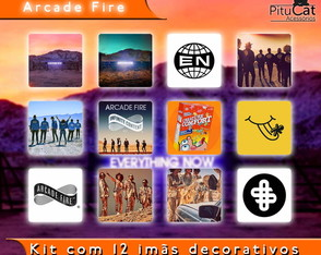 Arcade Fire 12 imãs decorativos 5x5