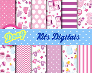 Baby Papel Parede Kit digital 01