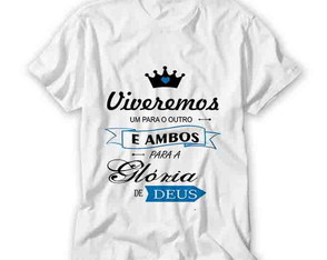 Kit Camiseta Casal - Viveremos