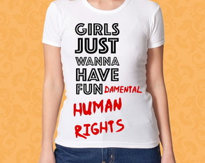 Camiseta Girls...Fundamental Rights M/F