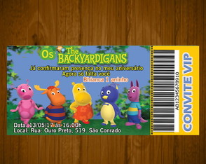 Convite the backyardigansT/14x6,5