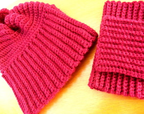Gorro e Mini polainas