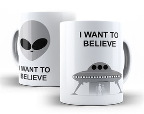 Caneca ET I Want to Believe