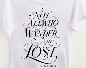 T-shirt not all who wander