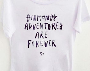 T-shirt Diamonds or adventures