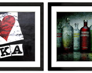 Kit vodka com 2 quadros