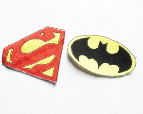Patches Bordados Kit 08 - Super 2 Patchs