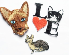 Patches Bordados Kit 10 Gatos 3 Patches