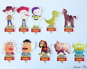 Apliques para tubetes - Toy Story Cute