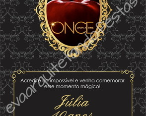 CONVITE DIGITAL ONCE UPON A TIME