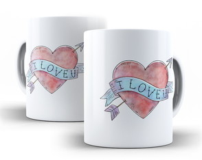 Caneca Tatoo I Love You