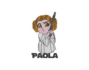 Patch Bordado Princesa Leia 1 Star Wars