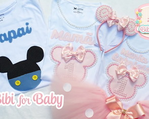 Kit Camiseta E Infantil Minnie Rosa lux