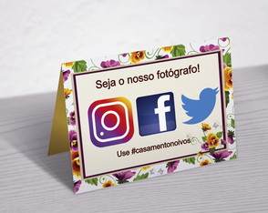 Placa de mesa instagram digital