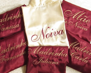Robe Noiva e Madrinha KIT 6 robes