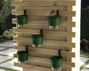 HortaVertical MINI 60x60 AutoIrrigável 5 Vasos