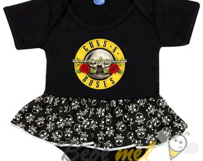 Body de Bebê Rock Banda Guns N Roses