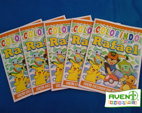 Revista para colorir do Pokémon