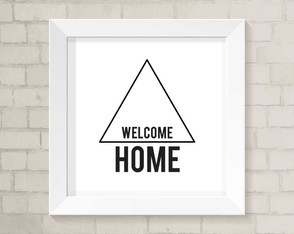 Quadro Casa - Welcome Home