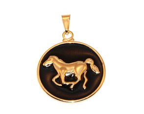 Pingente Cavalo Country Medalha