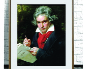 Poster Beethoven compondo música