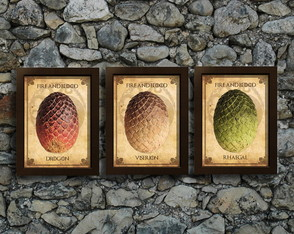 Kit 3 Quadros (Pôsters) Game of Thrones
